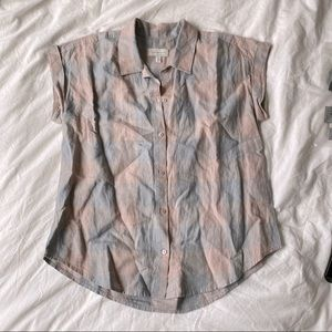 🍀 Lucky Brand Plaid Button Down Top